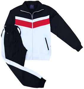 Men's Flex 2-Piece Full Tracksuit Jogging GYM Track Jacket Track Pants Suit