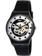 Swatch Men's Originals SUOZ147 Black Silicone Swiss Quartz Fashion Watch