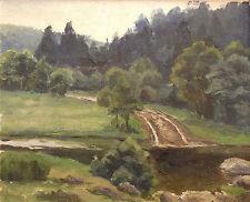 Modeste Jean LHOMME (1883-1946) Paysage Ardennes Charleville-Mézières Reims