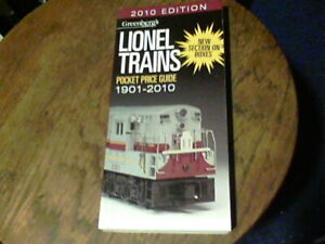 2010 Edition Greenberg's Guides Lionel Trains pocket price guide 1901-2010
