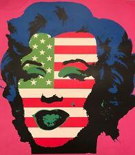 Marilyn Monroe USA Flag Print by Raw -Street Art like Brainwash Obey Warhol Dolk