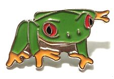 Frog Amphibian Garden Pond Creature Metal Enamel Toad Pin Badge 22mm New
