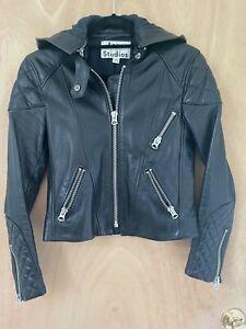 ACNE STUDIOS MAGNA Black Leather Jacket Size 34 / Pristine Condition!!!