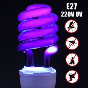 FJ- 220V E27 Spiral Energy Saving UV Ultraviolet Fluorescent 365nm Light Bulb La
