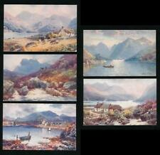 TUCKS OILETTE 7683 BONNIE SCOTLAND LOCH ETIVE 5 CARDS UNUSED ARTIST WIMBUSH