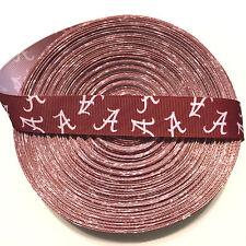 """7/8"""" Alabama Crimson Tide Mini A Grosgrain Ribbon by the Yard (Usa Seller!)"""