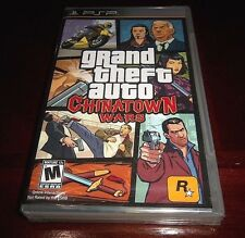 Grand Theft Auto Chinatown Wars (PSP, 2009) FACTORY SEALED BLACK LABEL [Y-Folds]