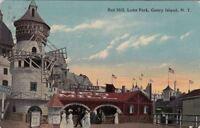 Postcard Red Mill Luna Park Coney Island NY