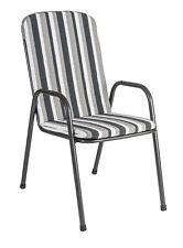 Alexander Rose Portofino High Back Garden Chair Cushion Charcoal Stripe