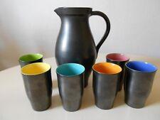 Service à orangeade  Elchinger ceramik céramique vintage