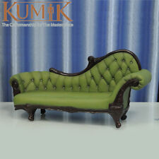 "KUMIK AC-7 Model Toys 1/6 Green Armchair Leather Sling Chair Couch F 12"" Figure"