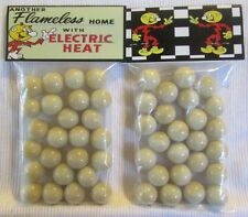 "2 Bags Of Reddy Kilowatt ""Another Flameless Home Electric Heat""  Promo Marbles"