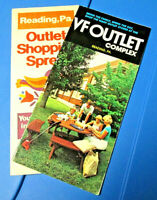 Two (2) Vintage Shopping Outlet Tourist Brochures 1970's - VF Outlet Complex