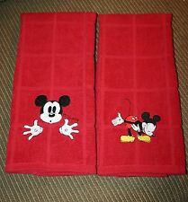 Mickey Mouse Inspired Hand/Kitchen towels 2 different designs 2 New embroidered