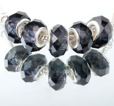 5Pcs New Fashion Silver Murano Crystal Facets Beads Fit European Charm Bracelet
