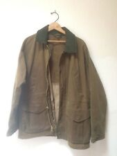 VINTAGE Mens Filson TIN CLOTH FIELD JACKET - Tan- Style# 10003 L Excellent
