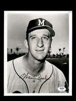 Warren Spahn PSA DNA Coa Signed 8x10 Photo Milwaukee Braves Autograph