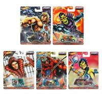 Masters of the Universe Complete Set of 5 - Hot Wheels Premium Pop Culture 2021