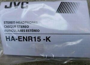 JVC HA-ENR15 BLACK GUMY SPORT EARBUDS WITH MICROPHONE.
