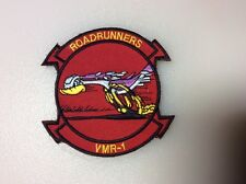 "USMC VMR-1 PATCH, W/HOOK & LOOP BACK, USMC TRANSPORT SQDN., 2-3/4"" x 3, NEW"
