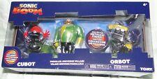 Tomy SONIC BOOM Parallel Universe Villain-Eggman Cubot & Orbot METALLIC Figures