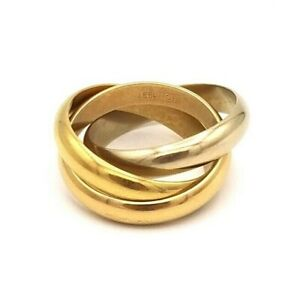 Cartier 18K Gold Trinity Rolling Band Ring