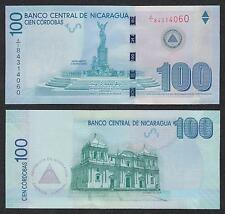 Nicaragua  100 Córdobas  Res. 12-9-2007 Wide security thread 204b  SC = UNC