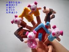 80 pcs Finger puppet the three little pigs finger puppet boby dolls finger toy