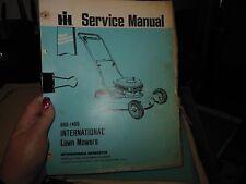 INTERNATIONAL CADET 76 LAWN MOWER, SERVICE MANUAL, GSS-1466