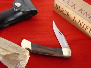 """Buck USA FOLDING HUNTER 110 5"""" Pre 1972 Upside Down Stamp Lockback Knife MIB!"""