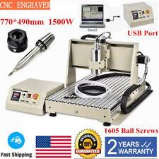 Mini Cnc 6040 3 Axis 1500w Router Usb Engraving Diy Cuttingmilling Machine Vfd
