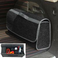 Large Car Boot Organiser Grey Carpet Travel Breakdown Tidy Storage Tool Bag New