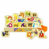 Wooden Alphabet English Letters ABCs Magnetic Stickers Magnets for Kids Toy Gift