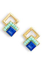 Rebecca Minkoff Geo Stud Earrings in Blue/ Gold (Style: E26177)