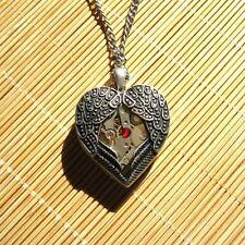 steampunk punk necklace pendant locket watch parts heart girl women diy jewelry