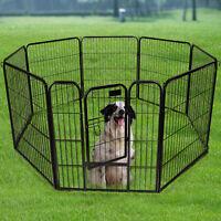 "New Goplus 24"" 32"" 40"" 8 Panel Heavy Duty Pet Playpen Dog Exercise Pen Cat Fence"