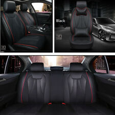 5 Seats Car Seat Cushion Deluxe Edition Style PU Leather Seat Covers+Rest Pillow