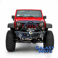 Falcon Stinger Rock Crawler Front Bumper+4x LED for 07-18 Jeep JK Wrangler
