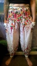 PATCH POCKET-HAREM-HIPPY-PANTS-FESTIVAL BOHO ETHNIC CHIC BEACH FUNKY SD96
