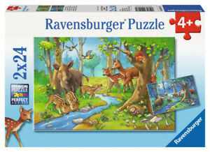 Ravensburger Puzzle 2x24pc - Animals of the Forest RB09117-1