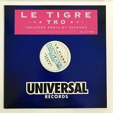 Le Tigre TKO Single with Remix by Peaches Promo Copy Vinyl Record