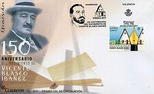 SPAGNA 2017 FDC Vicente Blasco Ibanez 1v Copertura SCRITTORI LETTERATURA LIBRI FRANCOBOLLI