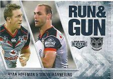 2016 NRL Elite Run & Gun (RG 30 / 32) Ryan HOFFMAN / Simon MANNERING Warriors