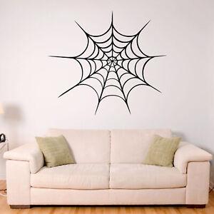 Spiderweb Halloween Wall Sticker Decal Transfer Kids Horror Home Matt Vinyl UK
