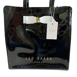Ted Baker Black Large Shopper Icon Bag PVC Plastic Bow
