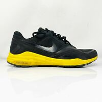 Nike Mens Lunar Edge 12 454162-007 Black Yellow Running Shoes Lace Up Size 13
