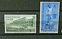 "FRANCOBOLLI ITALIA REPUBBLICA 1950 ""UNESCO"" NUOVO MH* SET (CAT.SC)"