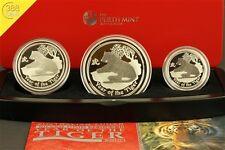 Australien Lunar II 3-Coin Set Tiger 3,5 Unzen oz Silber PP