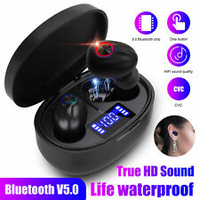 Bluetooth 5.0 Headsets TWS Wireless Earphones Mini Earbuds Stereo LED Headphones