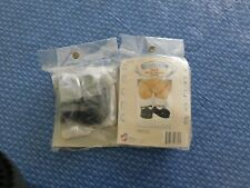 2 pair Treasured Toggery Black Strap Doll /Bear Shoes 82098 4 Pc set + socks Nip